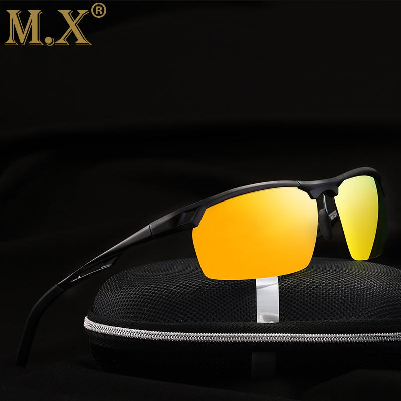 3c8d1e373d 2018 Mens Polarized Night Driving Sunglasses Men Brand Designer Yellow Lens  Night Vision Driving Glasses Goggles Reduce Glare M8550 Glasses Online  Polarized ...