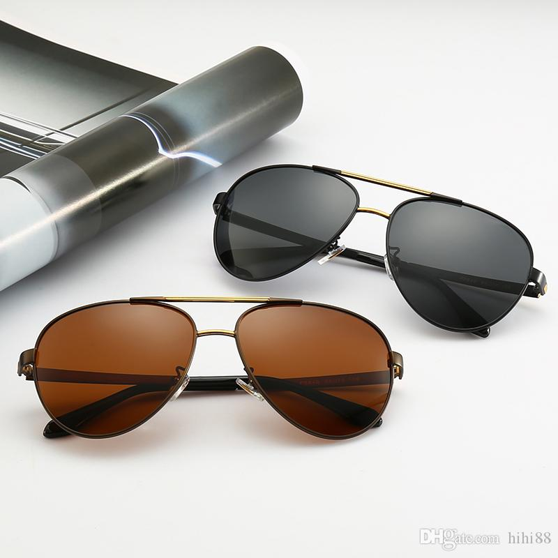 a2291e6b44b5 New Luxury Designer Sunglasses 0111 Men Metal Frame Design Pilot Glasses  Classic Style Candy Color Lens Eyewear Top Quality with Case Sunglass  Designer ...