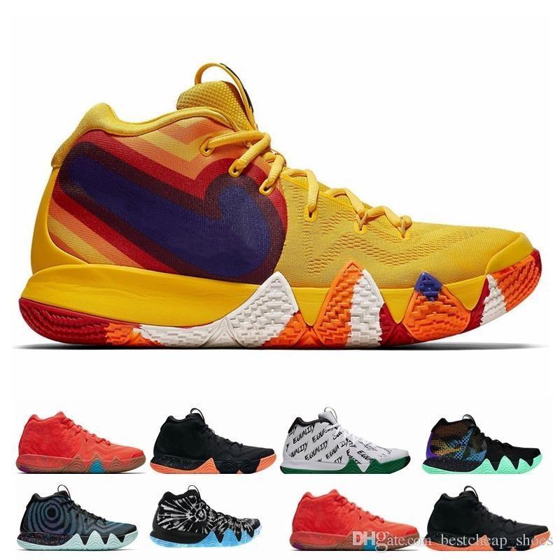 official photos c7b82 d350b 2019 Otoño Irving 4 Zapatos De Baloncesto Para La Venta Barata Zapatillas  De Deporte Kyrie Deportes Para Hombre Lobo Gris Equipo Rojo Zapatillas De  ...