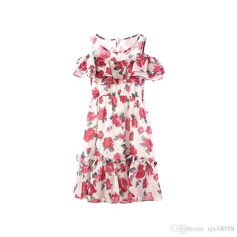 Girls'Dresses Summer 2019 New Girls' Flower-breaking Fairy Dresses Children's Summer Korean Edition Fashion Westernized Princess Skirts