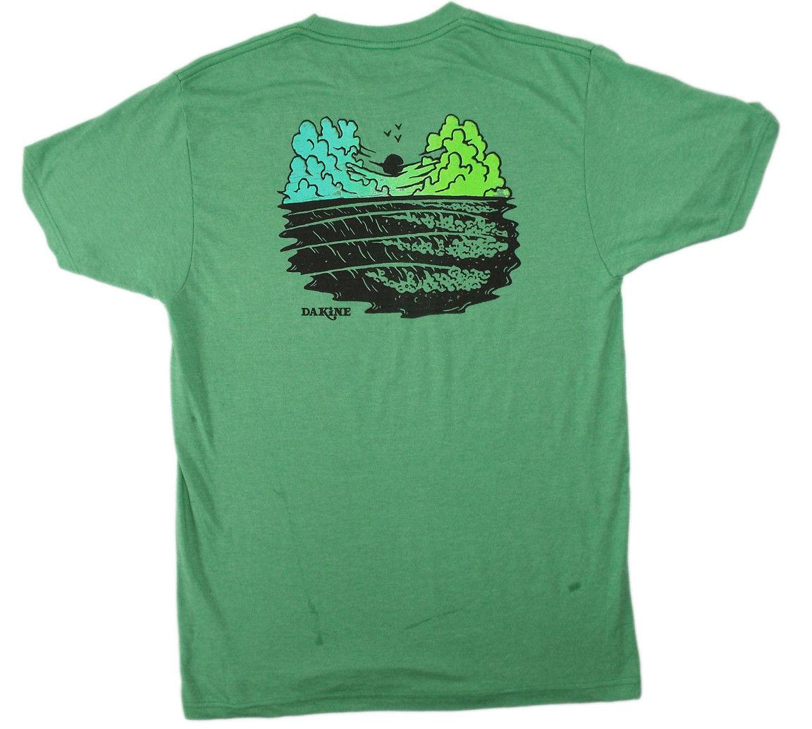 0331035ff DAKINE T-shirt Made with Aloha Wave Print Men's Green Heather Da Kine! NEW!  Funny free shipping Unisex Casual Tshirt top