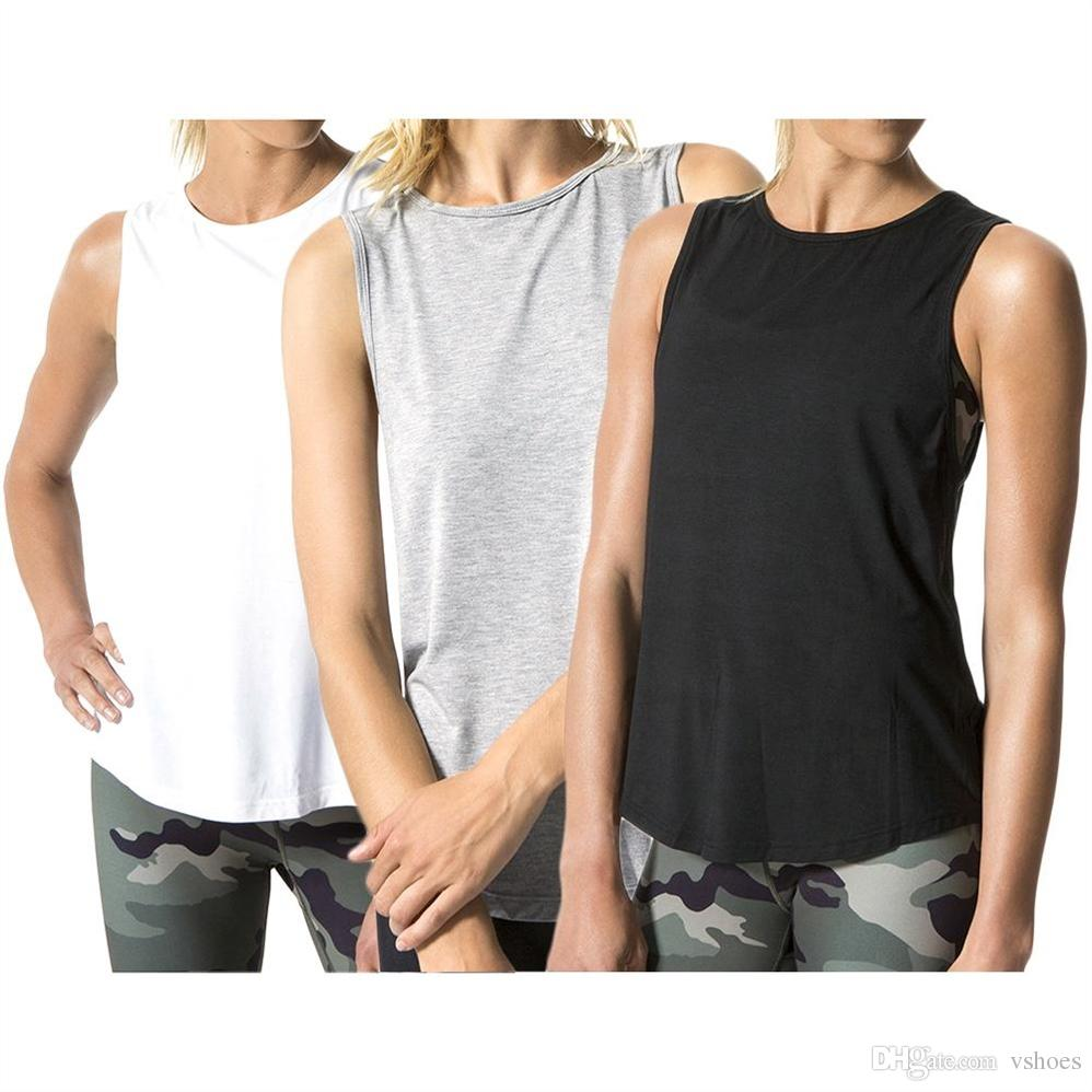 cd2bc2b1fe6e2 2019 2018 Women S Sexy Backless Yoga Sport Tank Tops Sleeveless Quick Dry  Breathable Fitness Shirts Fitness Gym Running T Shirt  74564 From Vshoes