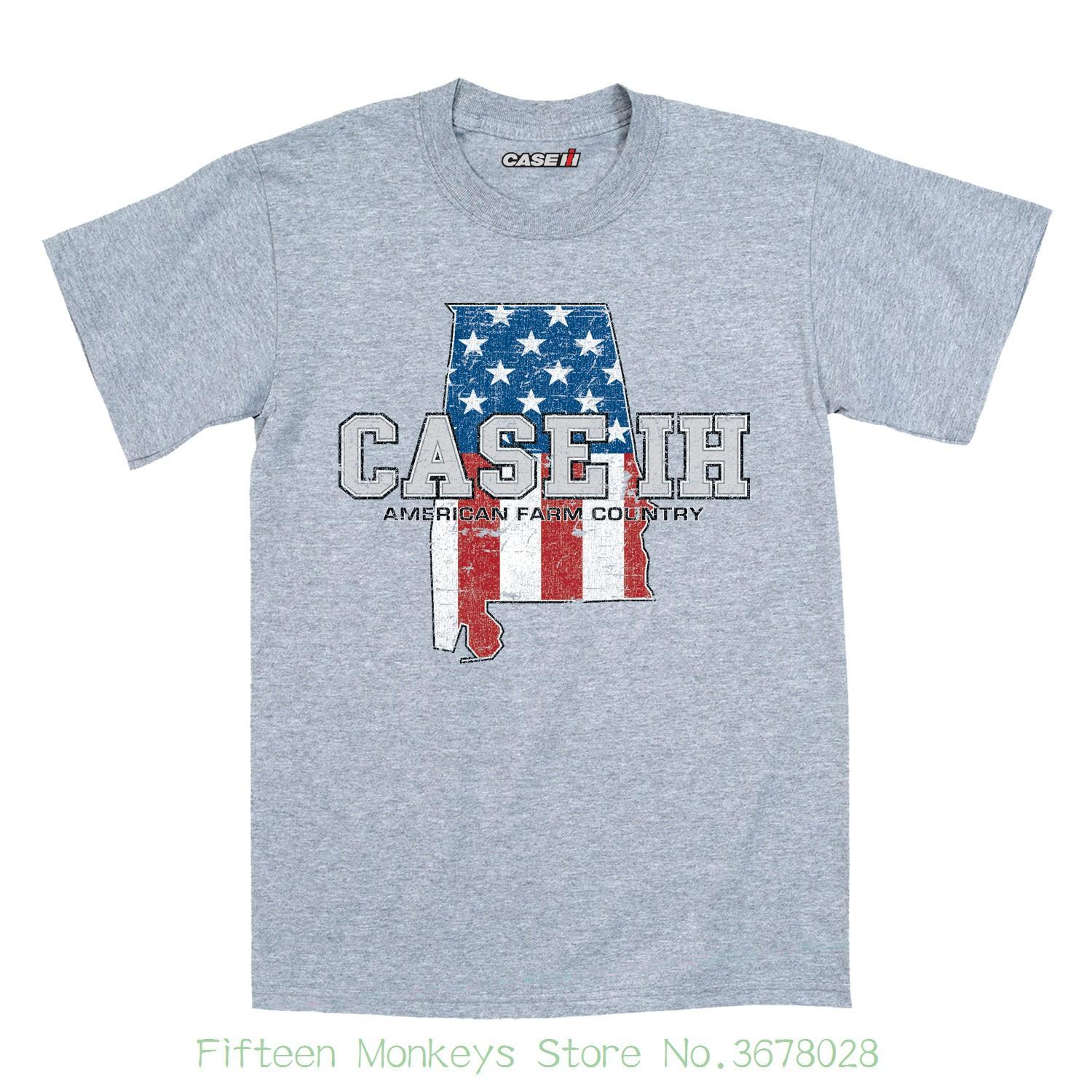 449168a86e Short Sleeves Cotton Fashion T Shirt Free Shipping Case Ih Country  Patriotic Al