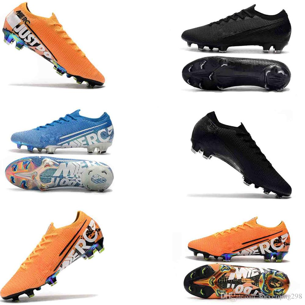 Mercurial 7 Elite Mens Youth Junior soccer cleats Shoes FG CR7 best original 360 13 Elite NJR outdoor football boots