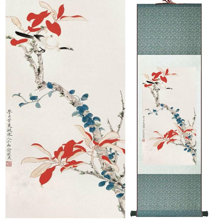 Chinese Flowers Painting Home Office Decoration Painting Home Painting No.033013