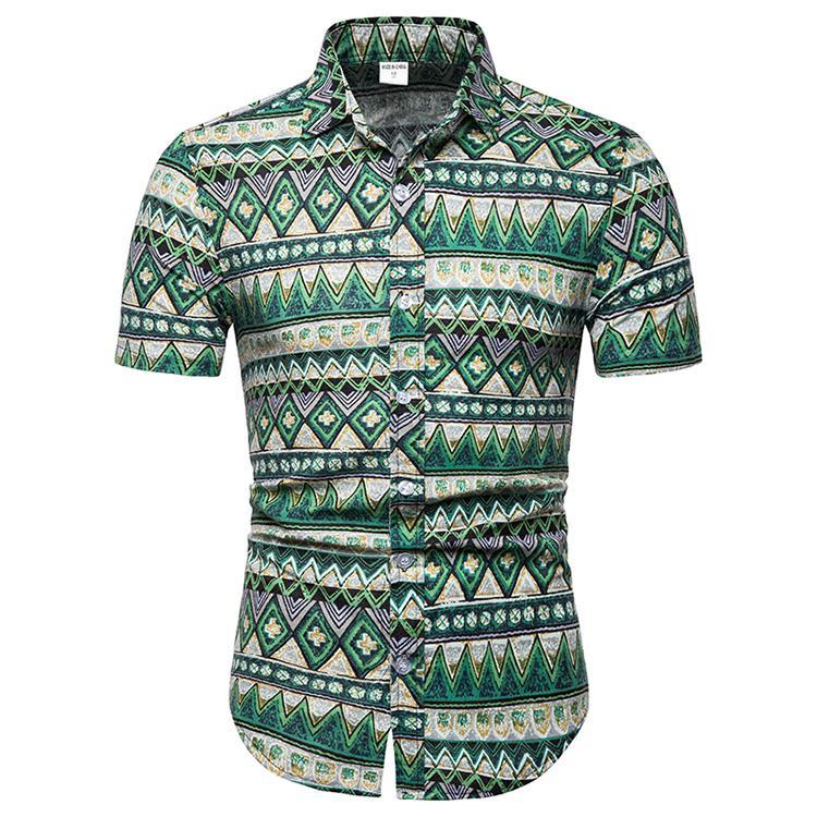 9120b7f5c4f4 New Camisas Beach Shirt Men Hawaii Shirt Beach Leisure Floral ...