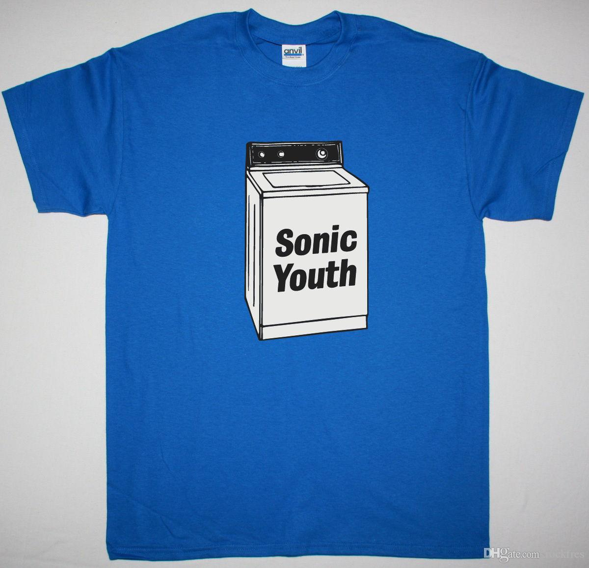 357e33a2 SONIC YOUTH WASHING MACHINE BLUE MENS T SHIRT ALTERNATIVE ROCK POST PUNK  INDIE Different T Shirts Day Shirt From Rockfres, $10.19| DHgate.Com