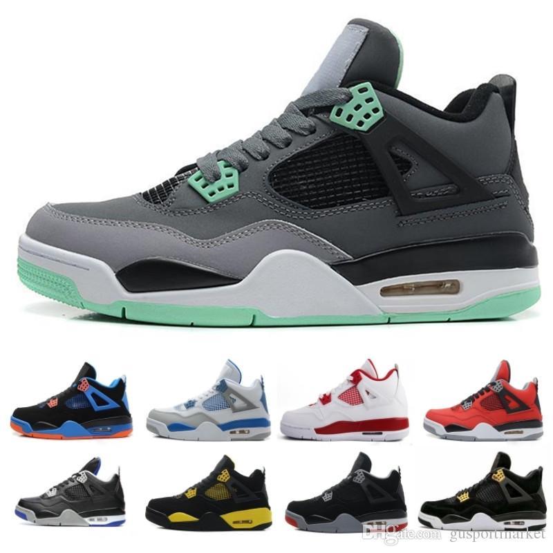 online retailer 95809 f0ab2 Compre Nike Air Jordan Aj4 Retro 2019 Nuevo 4 4s Hombres Zapatillas De  Baloncesto Toro Bravo Cactus Jack 2012 Lanzamiento Cemento Blanco Deporte  Zapatillas ...