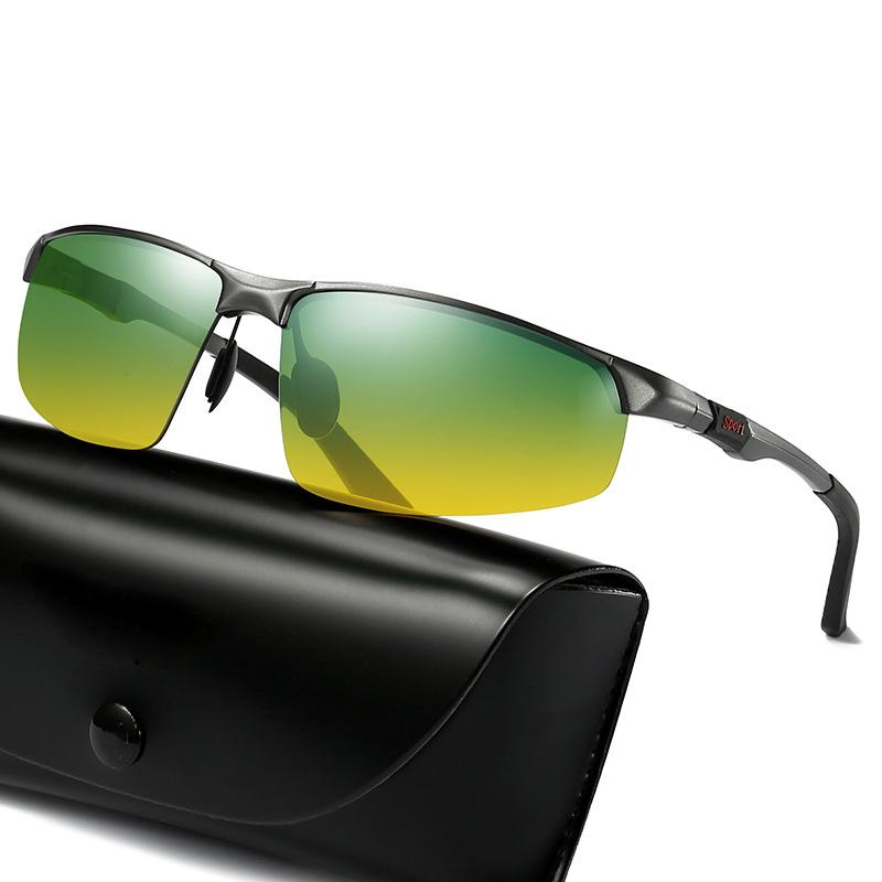 bd8313e0314d 2019 Fashion New Polarized Men Sunglasses Half Frame Driving Glasses ...