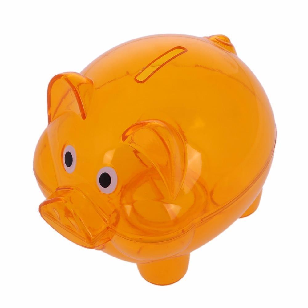 51362e855 Children Piggy Bank Plastic Transparent Money Saving Box Case Coins Cartoon  Pig Shaped Piggy Bank Coin Box Gift Save Money Box C18122201 Unique Gag  Gifts ...