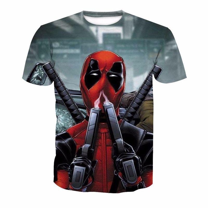 Compre Fans Made Harajuku Camiseta Marvel Deadpool Funny Hipster Anime A   27.28 Del Instachic  8c61b37ed81