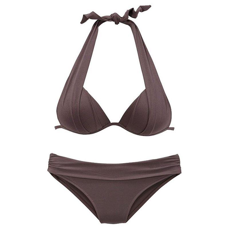 2019 Katı Mayo Bikini Seti Kadınlar Seksi Crop Top Mayo Kırmızı biquini Mayo Yaz Mayo Beachwear