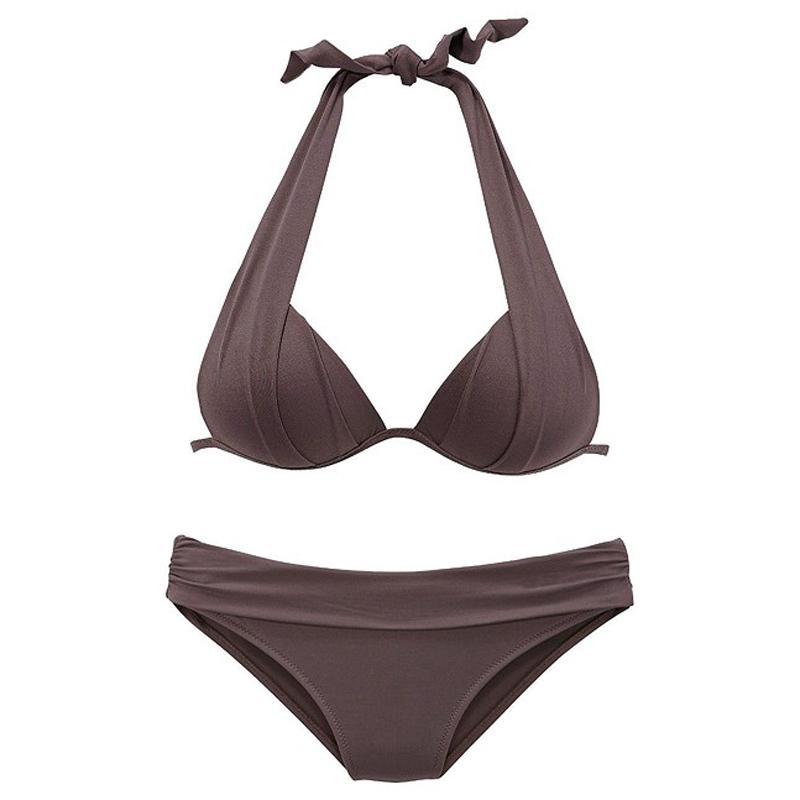 2019 Sólido Swimsuit Bikini Set Mulheres Sexy Top Curto Swimsuit Vermelho Biquini Swimwear Verão Maiô Beachwear