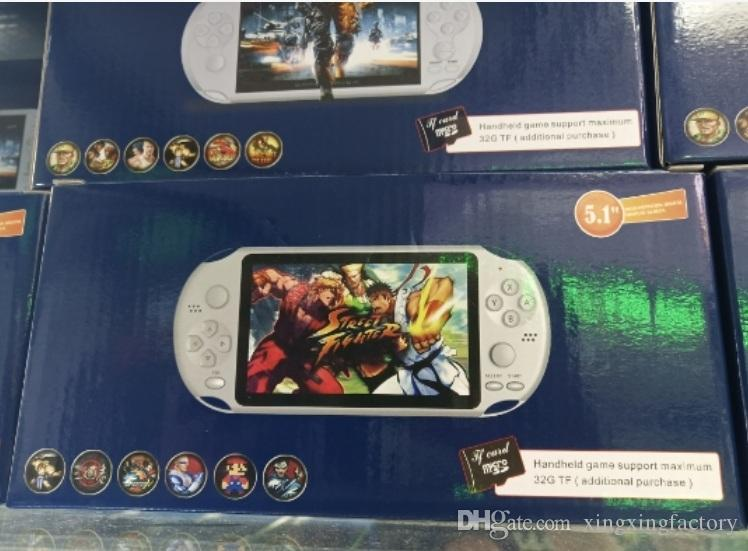 X12 Handheld Game Players 8GB Memory Portable Video Game Consoles 5.1 inch came palyer Support TF Card 32gb MP3 MP4 wholesale