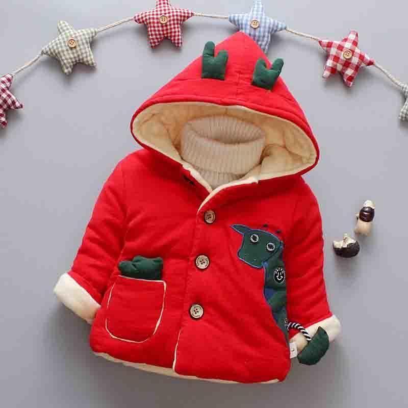 bfb13e247c7c Good Quality 2019 Winter Hooded Boy Jackets Newborns Cartoon Cotton ...