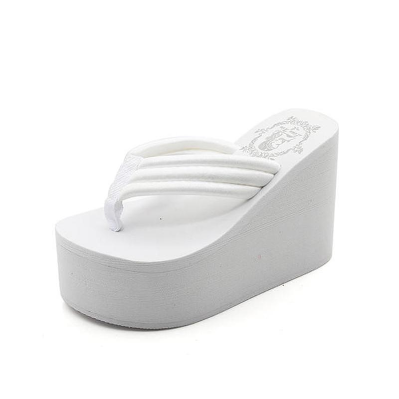 626225f69c629a New 11CM Women Flip Flop Wedges Heels Summer Sandals Slippers Woman Shoes  Women Beach Wedges Shoes Light Bottom Platform Handmade 35 41 Men Boots  Slipper ...