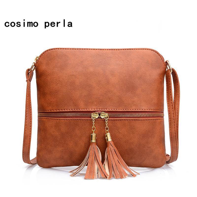fc1566ed41be1 Korea New PU Leather Handbags Small Flap Crossbody Bag For Women 2019 Solid  Color Zipper Tassel Square Bags Ladies Messenger Bag Black Handbags Weekend  Bags ...