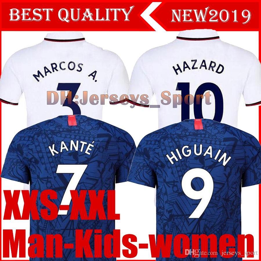 836e7ad1a1e 2019 19 20 HAZARD Soccer Jerseys 2019 2020 JORGINHO HIGUAIN Football Shirt  GIROUD KOVACIC Football Shirt PEDRO KANTE Men Women Kids Kit Uniform From  ...