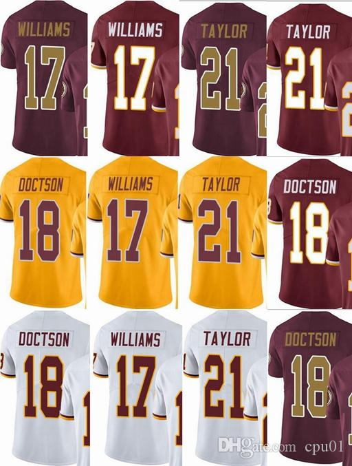 huge selection of 89d0e 944ba Washington Redskins custom men/youth/women #17 Doug Williams 18 Josh  Doctson 21 Sean Taylor Vapor Untouchable Limited/rush/elite jerseys