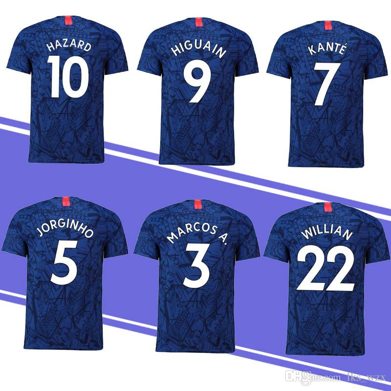 low priced 03696 f3d17 19/20 New Thailand 10 HAZARD 7 KANTE 9 MORATA Jersey 18 GIROUD 18 19 20  Soccer Jersey Embroidery Logo Cheap and Fine