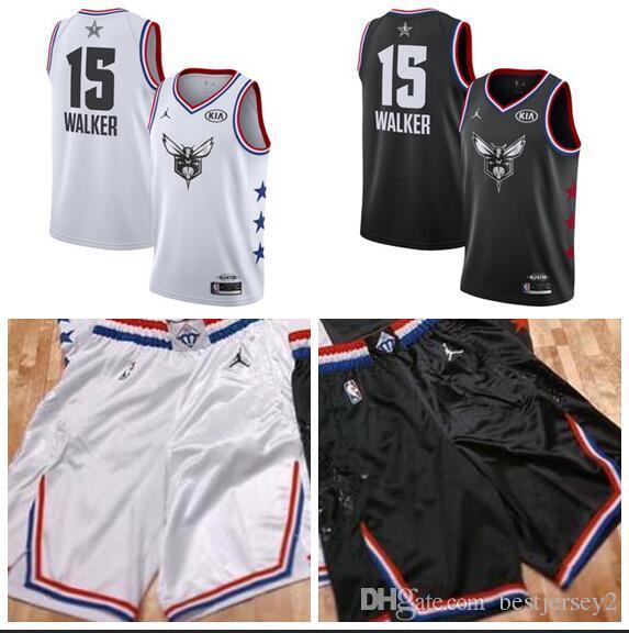988829af3 Men S Charlotte Kemba Hornets 15 Walker Brand Black White 2019 All Star  Game Finished Swingman Jersey Shirt Groom Dress Shirts From Bestjersey2