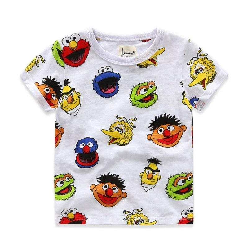 100% Cotton Summer Boys T-shirts Cartoon Printed Short-sleeve Boys Shirts 2-8 Years Kids T-shirt For Boys Brand Children Clothes