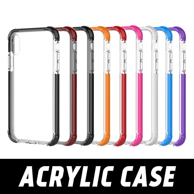 High Transparent Clear Phone Case Für Iphone 6 7 8 Plus Vier Ecken Acryl Hard Cover Für Iphone Xs Xr Xs Max