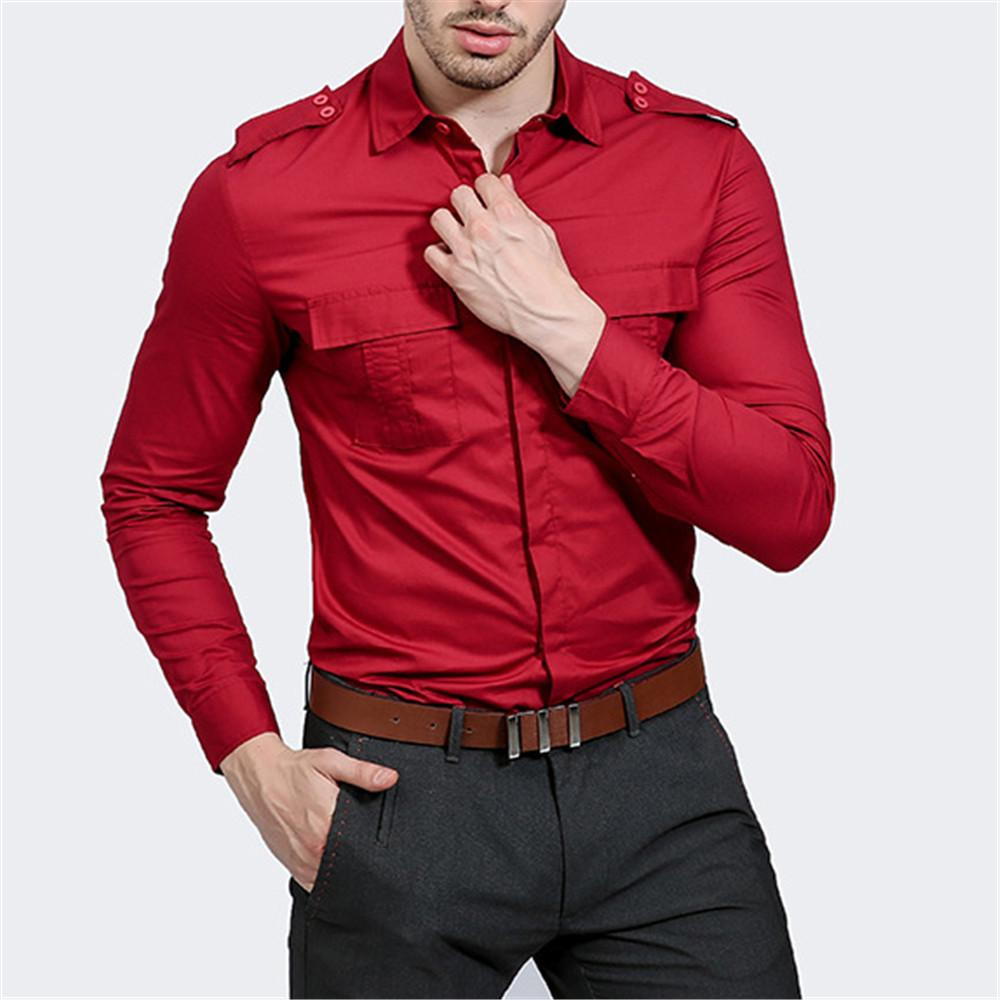 e90d759b1 2019 Plus Size Party Shirt Men Elegant Dinner Blouse Fitness Novelty Spring  Blusa 2019 Formal Working Shirts Long Sleeve Male Tops From Meizuang, ...
