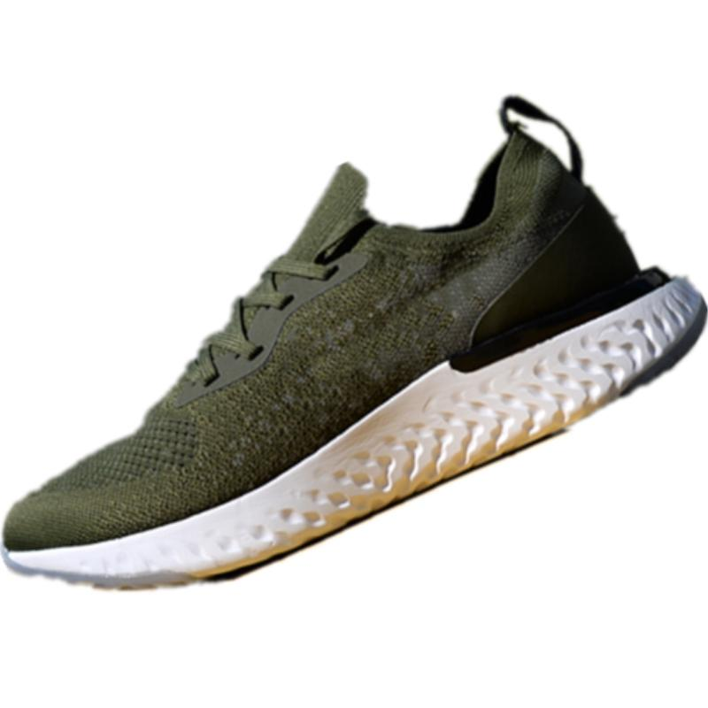 2018 New Epic React Knit Fly Malla transpirable Zapatillas de deporte informales Epic React High Elastic Tech Bubble Cushioning Casual Shoes