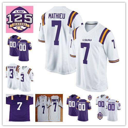 7b31bab4c11 NCAA LSU Tigers #3 Odell Beckham Jr. Hot Sell Jersey 7 Leonard ...