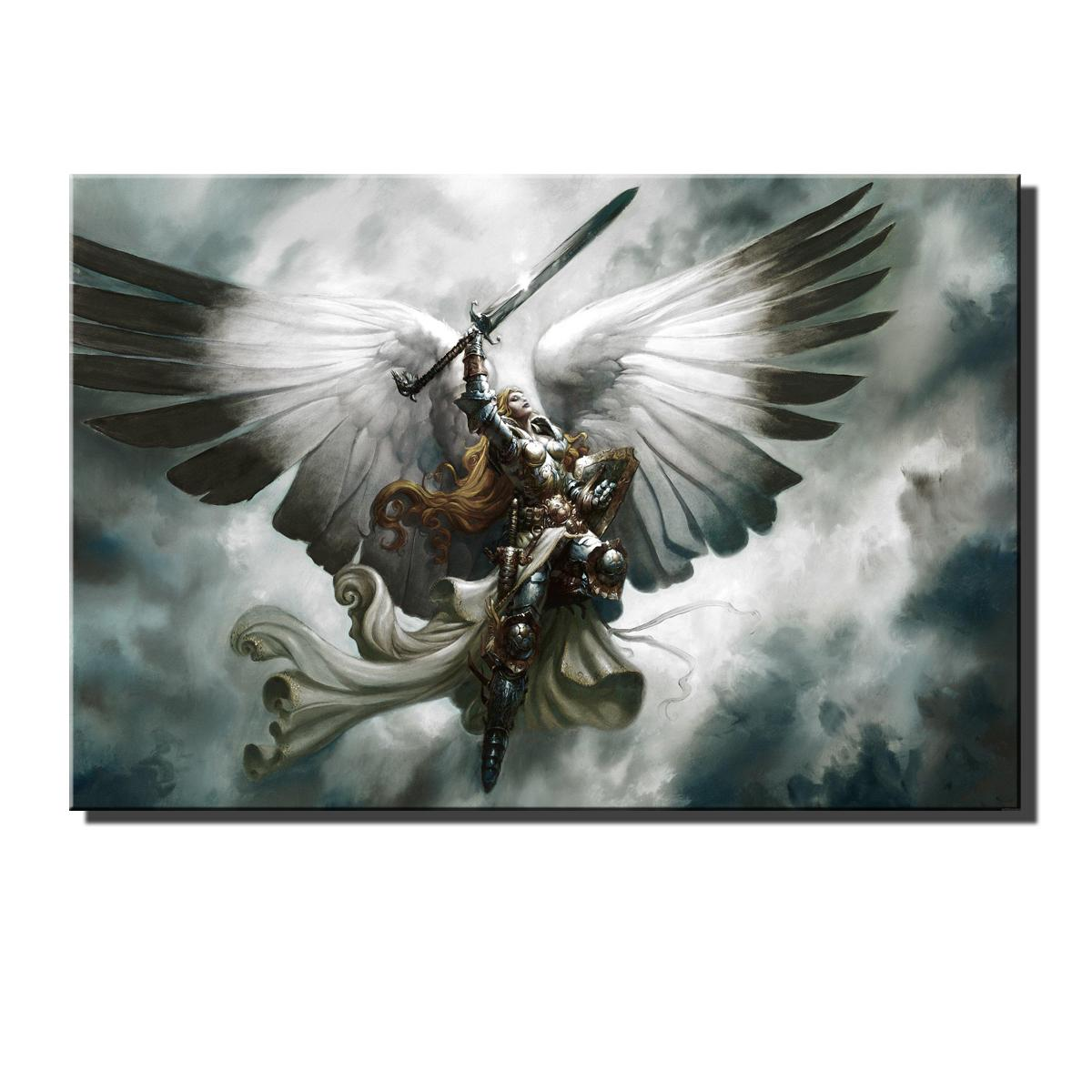 2019 angel with a swordhd canvas printing new home decoration art painting unframed framed from dhqicai05 5 98 dhgate com