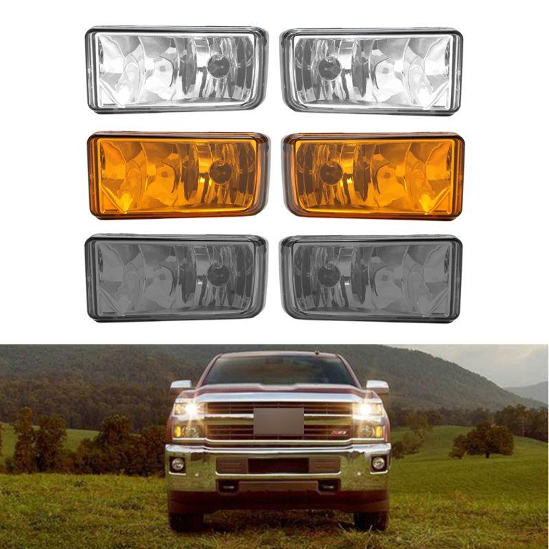 2PCS Smoke Bumper Fog Lights For Chevy Silverado Avalanche Suburban Tahoe 2007-2013 Automobiles Light Assembly