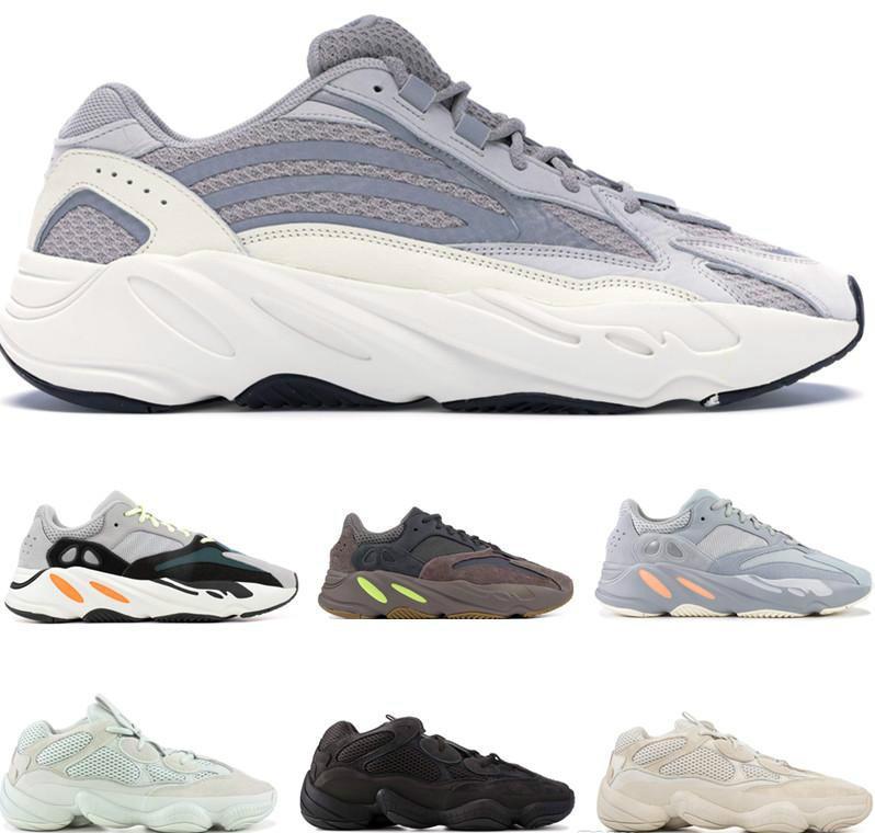 best wholesaler b6c9d b3d12 Adidas Yeezy Boost 700 Inertia 700 V2 Static Wave Runner Hommes Femmes  Chaussures de course 500 Salt Blush Mauve Utility Noir Baskets Designers ...
