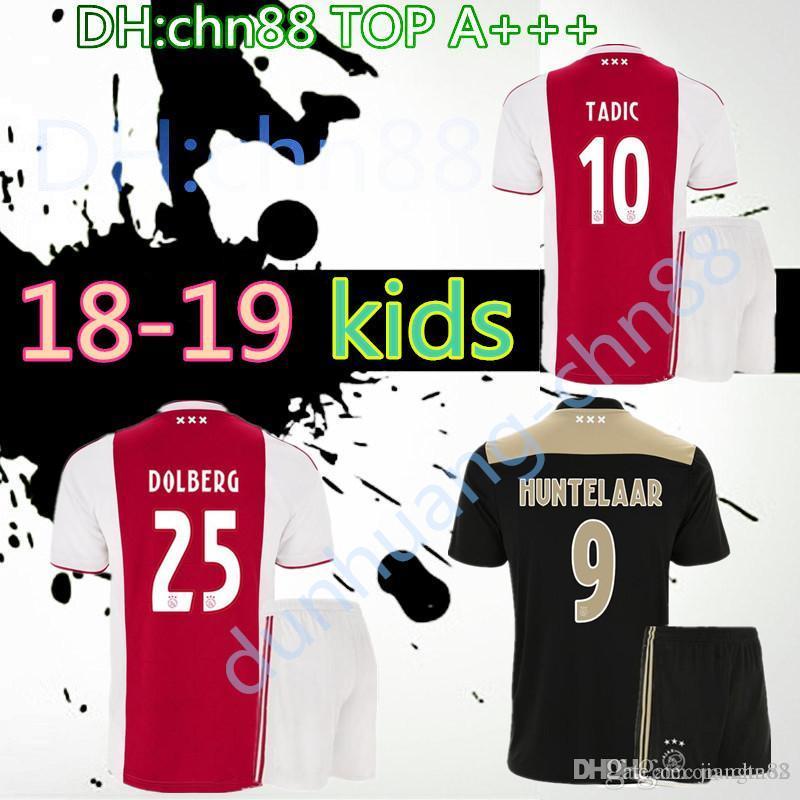 dd06e54521a Thai Quality 2018 2019 Ajax FC Kids Kits Soccer Jersey 18 19 ...