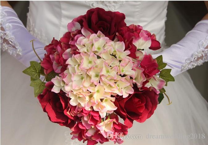 Flowers Decor For Home Wedding House Silk Decorative Flower Bouquet