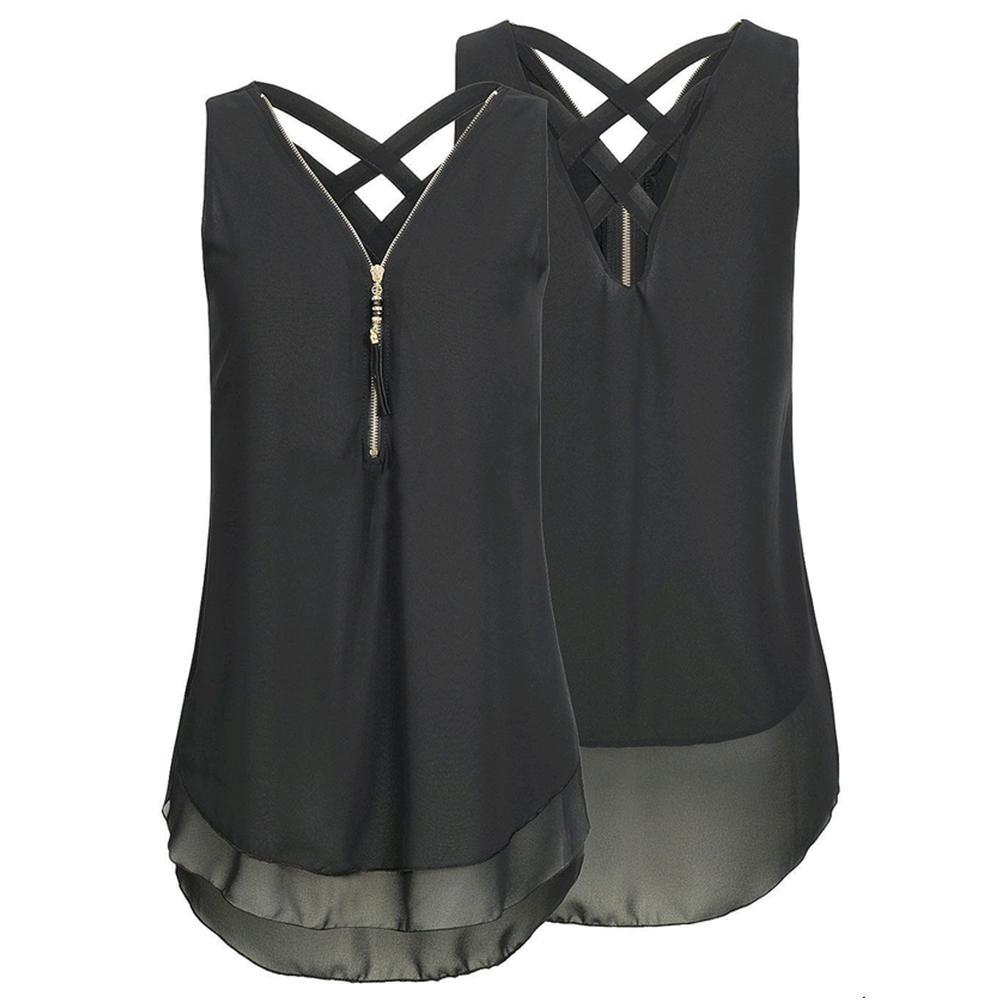 Mode d'été Femmes Sexy dentelle à manches courtes en vrac solide col en V Tops Shirt Casual Débardeur