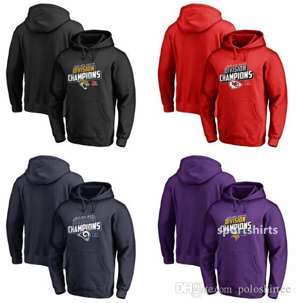99ed312a Chiefs Rams Vikings Jaguars Pro Line by Fanatics AFC South Division  Champions Pullover Hoodie