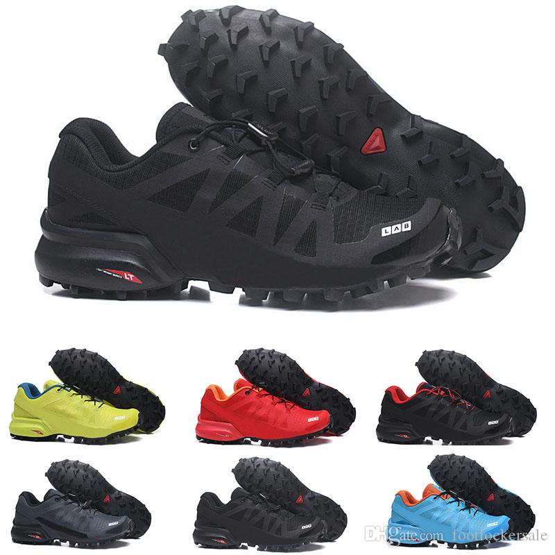 acheter en ligne 0140f 90e9b Speedcross Pro 2 Running Shoes For Men Women Triple Black Blue Yellow Speed  Cross Jogging Hiking Sports Shoes Designer Men Sneakers Trainers