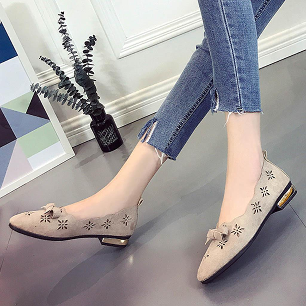 c5d8300989e Designer Dress Shoes Women Single Spring Autumn Butterfly Knot Square Toe  Platform Loafers Hollow Breathable Casual Zapatos Mujer Nude Shoes Womens  Sandals ...