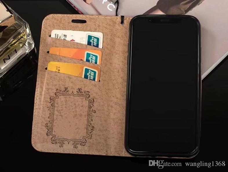 top luxury brand gold wallet flip case for iphone x xs max xr flip