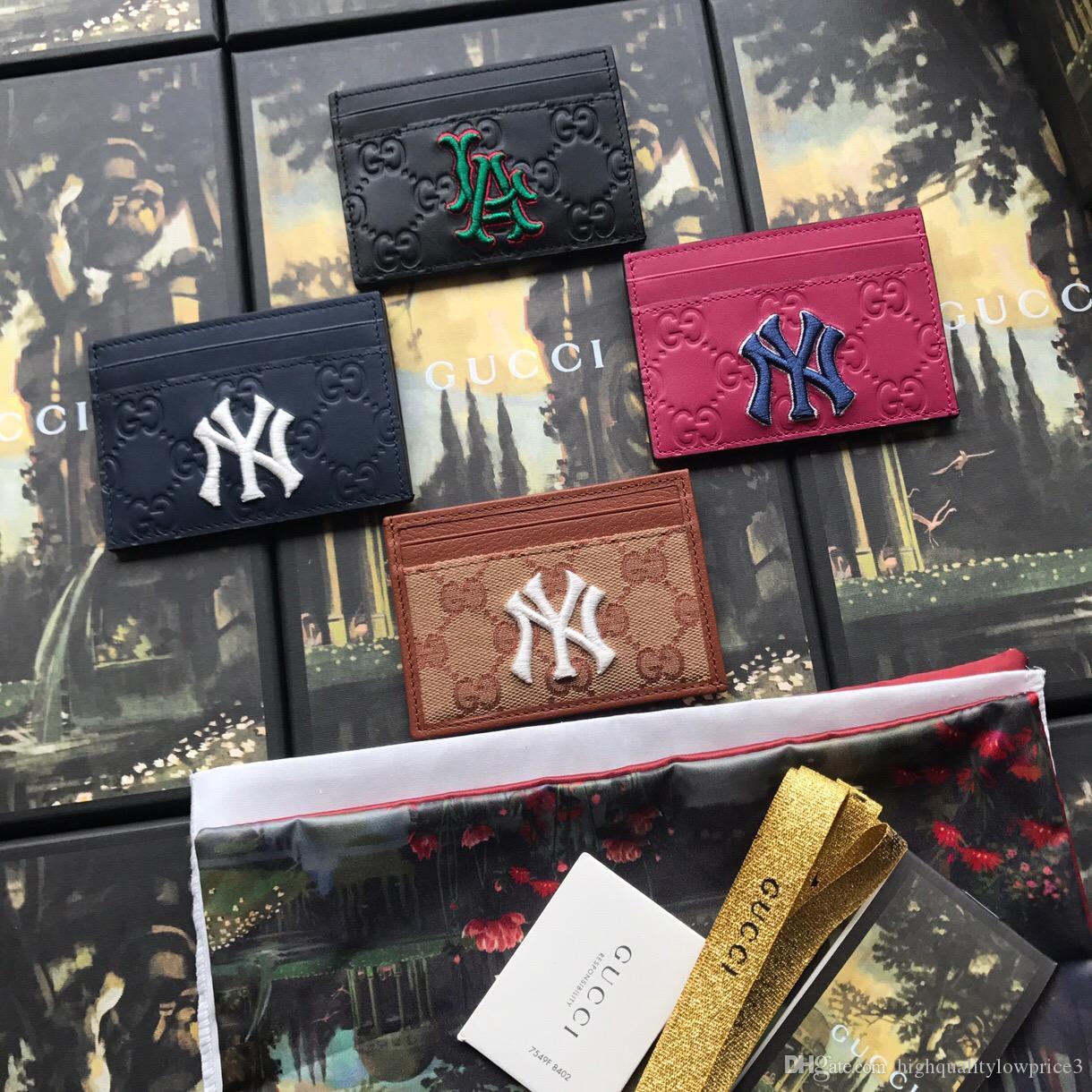 cc4f9bae7f2 Classic Ltter Black Men Wallet With Box Genuine Leather Small Purses Women  Card Holder 547793 Designer Leather Wallets Radley Card Holder From ...