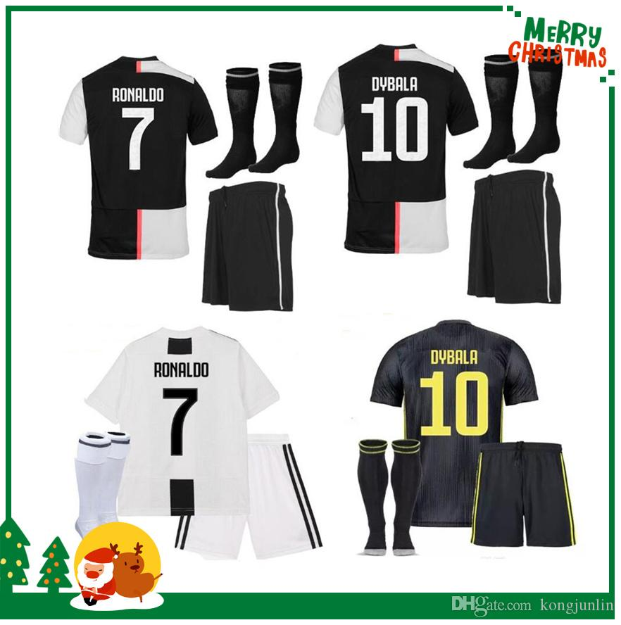 buy popular 812c2 2f389 Juventus kids boy kit 19 20 #7 RONALDO home Soccer Jersey DYBALA Soccer  Shirt 2019 MARCHISIO MANDZUKIC PJANIC juve football uniform Sales