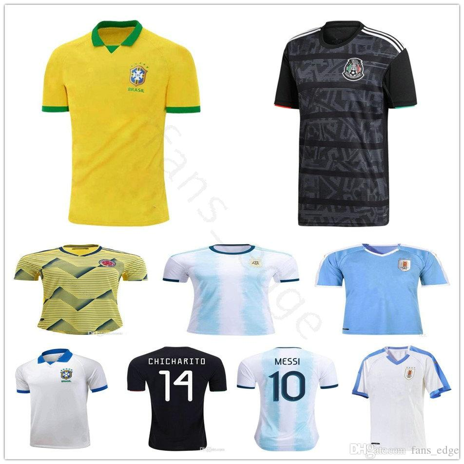 acc5aea21 2019 2019 Copa America Cup Argentina Messi Brasil Colombia James Mexico  Uruguay Mali Qatar Venezuela Japan Custom Football Soccer Jersey Shirt From  ...
