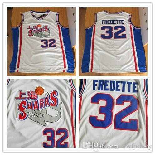 0884318a439 2019 Men S 32 Jimmer Fredette Shanghai Sharks Basketball Jerseys ...