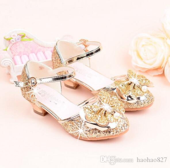 Acquista Bambini Sandali Con Fiocco Strass Primavera Estate Princess Girl  Scarpe In Pelle Ragazzo Glitter Wedding Party Scarpe Singole Scarpe Casual  A  24.2 ... 872a5349c14