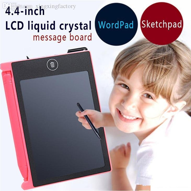 Retail Sale 4.4 inch mini LCD Writing Tablet Graffiti Drawing Tablet for Kids Digital Handwritting Pads draft with OPP Bag free DHL