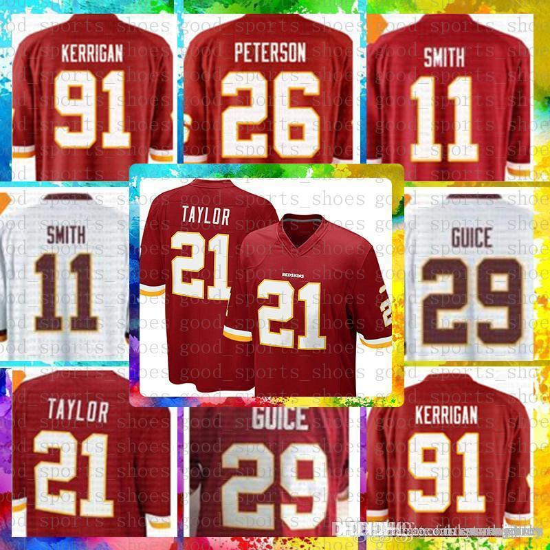 new style 30fef 12e53 Top Sale 11 Alex Smith Washington Redskins Jersey 29 Derrius Guice 21 Sean  Taylor 86 Reed 8 Kirk Cousins 91 Ryan Kerrigan Football Jerseys