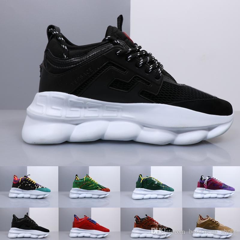 De 2019 Cadena Nuevos Sneakers Zapatos Reacción Versace Casual En Men Diseñador Zapatillas Italia Deportivas Shoes Con Lujo Mujer Moda QshrCxtd