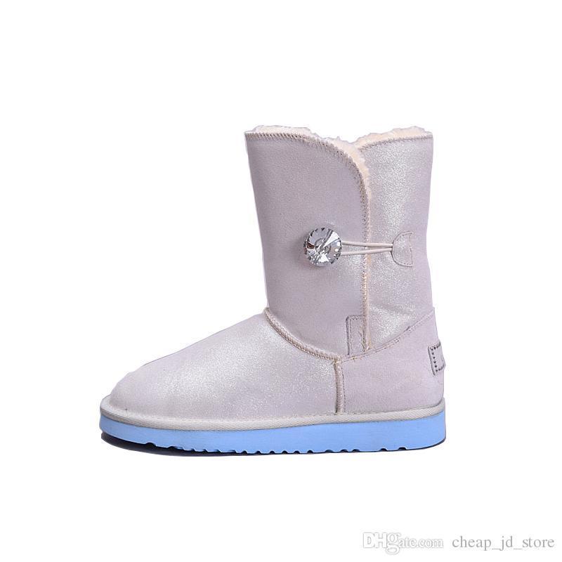 b289b4c425 Waterproof Short Glitter Sequin Boots WGG designer Womens Sparkles  Australia Classic winter Snow boots Button Bling Boot 36-41 New Arrival