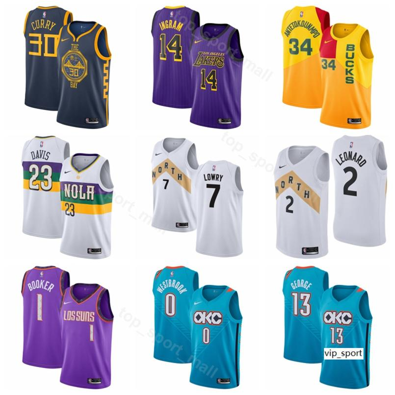 best sneakers 5da0e 27626 Edition City Basketball Russell Westbrook Jersey Paul George Devin Booker  Kawhi Leonard Kyle Lowry Anthony Davis Antetokounmpo Shirts